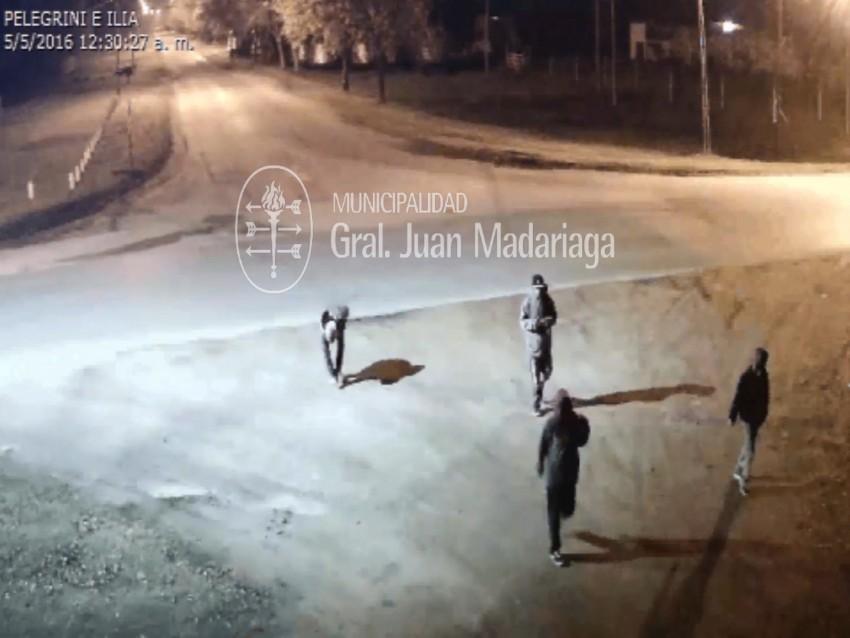 Ataque a cámara del sistema de seguridad - Madariaga