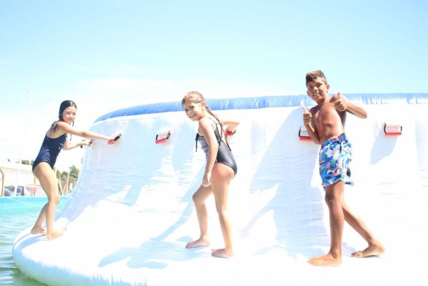 Los chicos del paraje Macedo disfrutaron de una jornada en el parque a