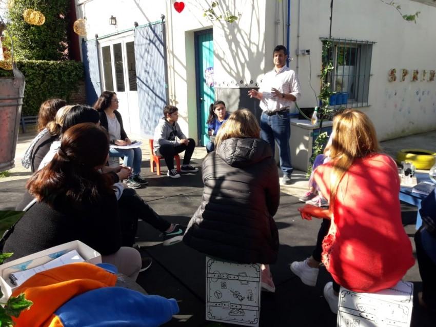 Realizaron actividades de huerta en el Jardín Raihue