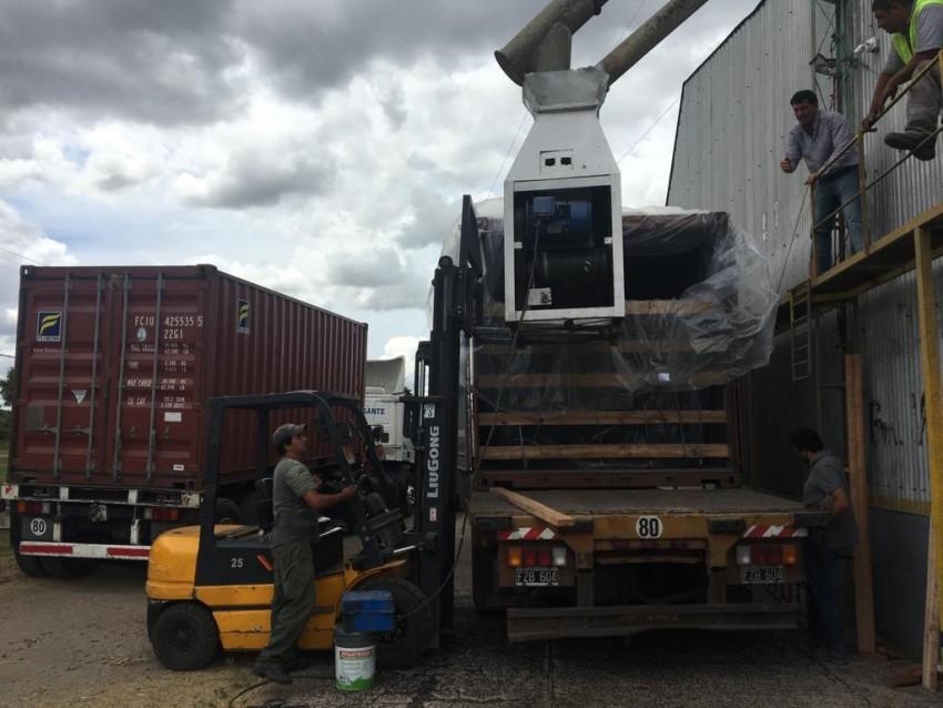 La planta Hórreos del Sudeste realizó la primera exportación de granos