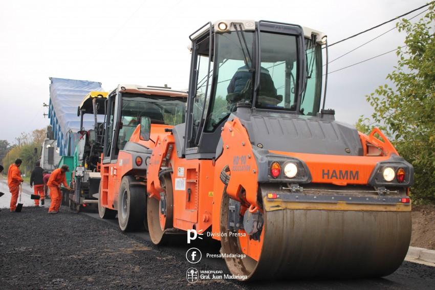 Se completó el primer tramo de pavimentación en el Belgrano