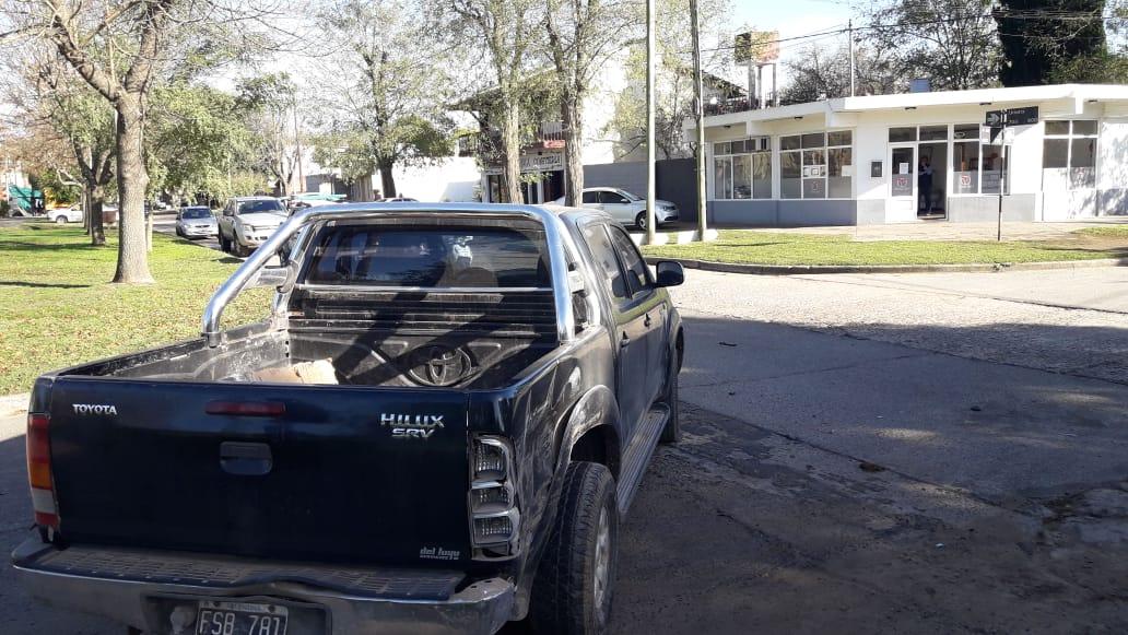 Siniestro vial entre dos camionetas