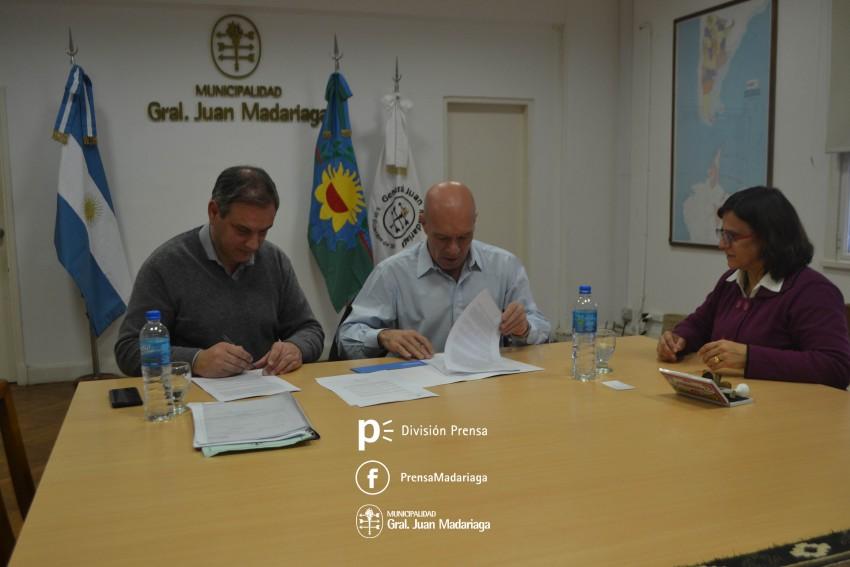 Se firmó el convenio para que Madariaga pueda hacer uso de la Estación