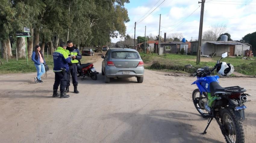 Accidente de tránsito en el barrio Belgrano: Tres personas fueron tras
