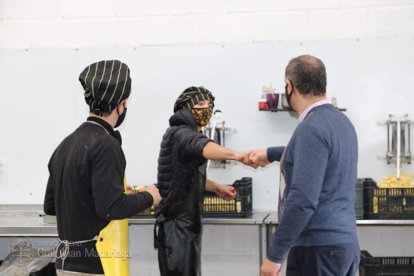 Santoro visitó a empresarios y trabajadores del frente de Ruta