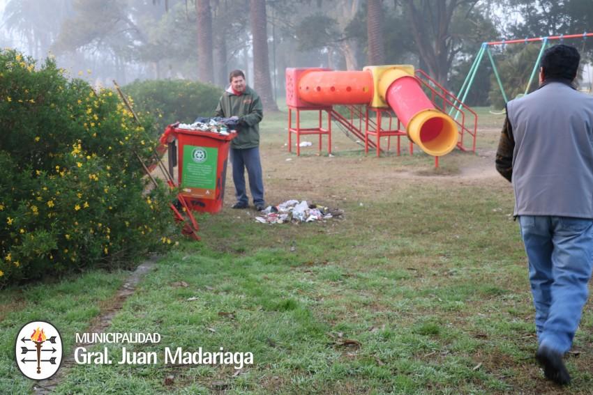Hechos vandálicos afectaron la limpieza y orden del parque Anchorena