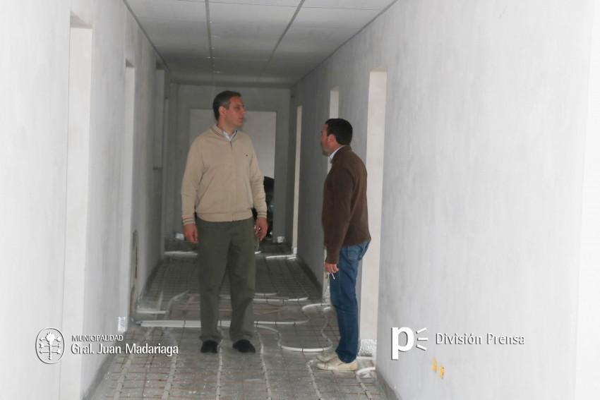 Santoro supervisó la etapa final de la obra de ampliación del Hospital