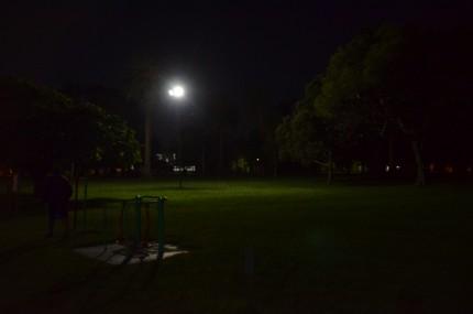 Prueban nuevo sistema lumínico para el Parque Anchorena