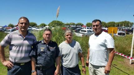 Santoro verificó el operativo de seguridad por el Enduro del Verano