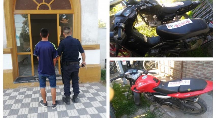 aprehndido y motos secuestradas