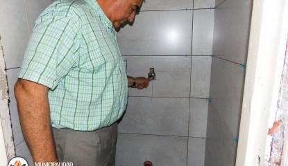 Avanzan las obras de mejora de los baños de la terminal