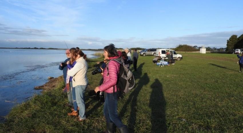 Madariaguenses y visitantes disfrutaron de la jornada de avistaje de aves
