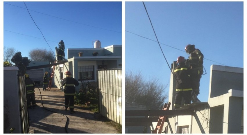 bomberos chimenea