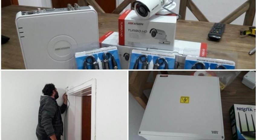 Instalaron cámaras de seguridad e internet en la casa del estudiante de Tandil