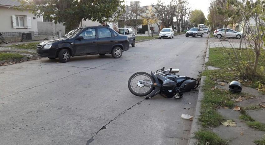 choque en calle moreno