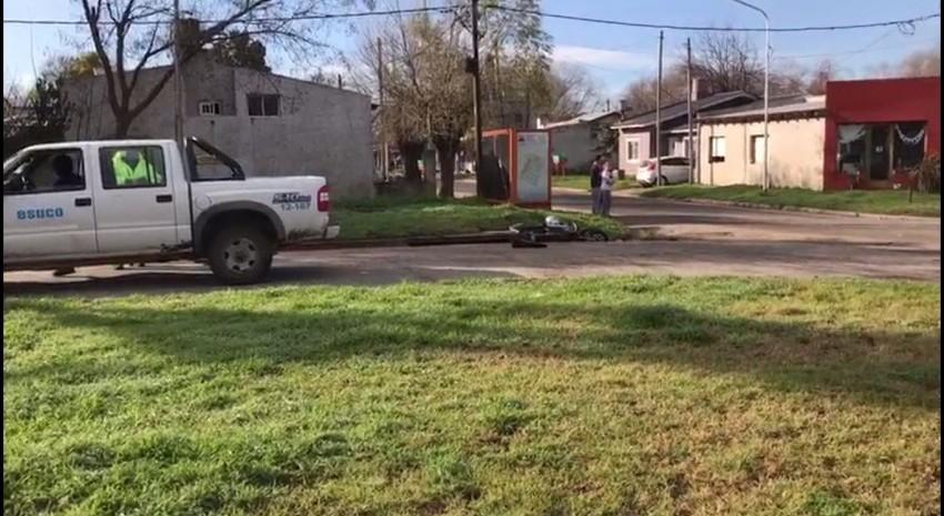 choque moto y camioneta