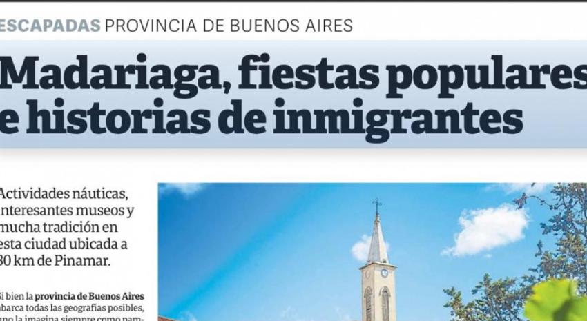 Madariaga en el segmento Viajes del Diario Clarín