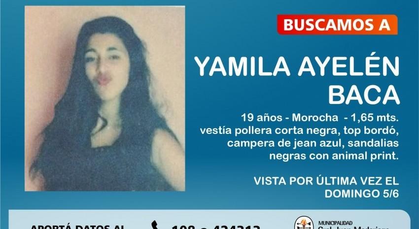 desaparición de joven Yamila