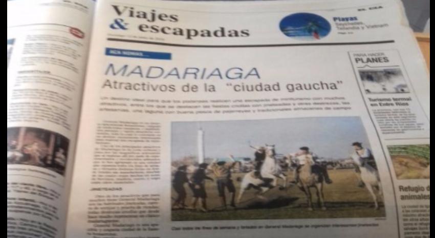 Fuerte presencia de Madariaga en el principal diario platense