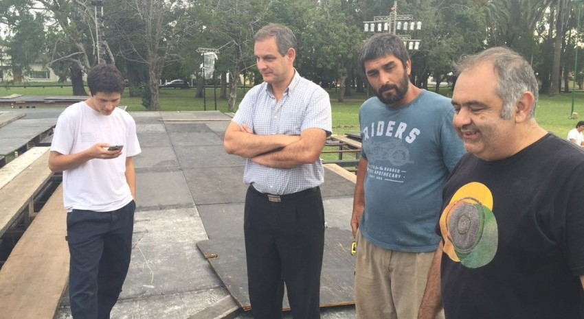 Santoro visitó a miembros de La Pasión