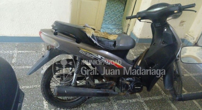 Hallazgo de Moto en Madariaga