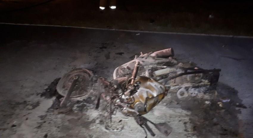 moto calcinada