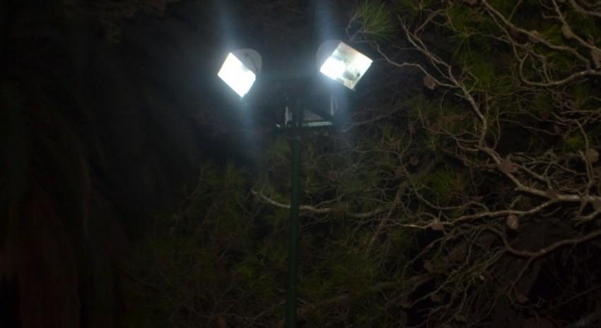 Luminarias del parque Anchorena
