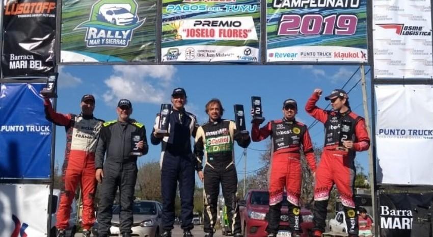 Rally Pagos del Tuyú: Miceli fue imparable y ganó todo lo que había en juego