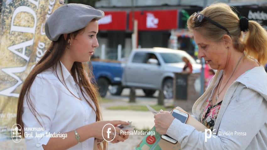Turismo promociona a Madariaga en Pinamar durante el fin de semana largo